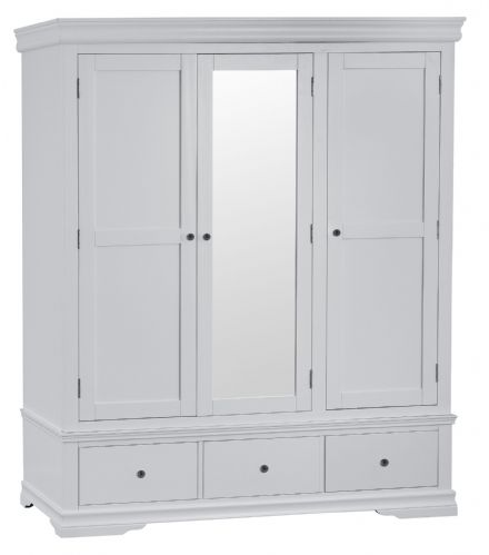Stratford Grey Painted Triple Wardrobe